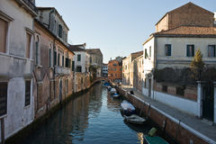 Small canal venice Royalty Free Stock Photography