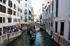 A small canal in Venice Stock Photos