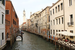 Small canal in Venice royalty free stock image