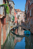 A small canal in Venice Royalty Free Stock Photography