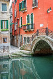 A small canal, Venice Italy Royalty Free Stock Photography