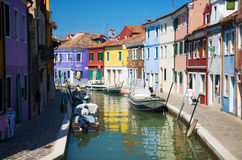 Small canal in Venice Italy Stock Photo