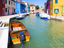 Small canal in Venice Italy Stock Photos