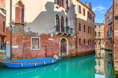 Small canal in Venice, Italy. Stock Image