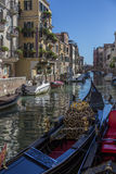 Small canal in Venice - Italy Royalty Free Stock Photo