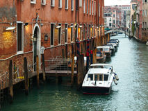 Small canal in Venice, Italy. Royalty Free Stock Images