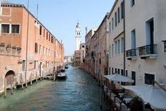 Small canal, Venice Italy. Narrow canal in Venice, Italy stock photography