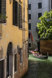 Small canal in Venice - Italy stock image