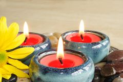 Small candles Royalty Free Stock Photos