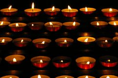 Small candles Stock Photography