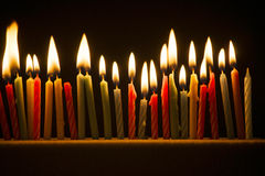 Small candles lit Stock Photography