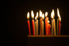 Small candles lit Royalty Free Stock Images