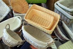 Small Cane Baskets, Italy Stock Images