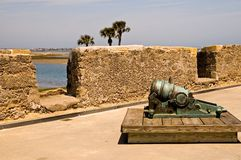Small Cannon On Fort Wall Royalty Free Stock Photography