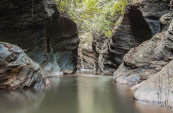 Small canyon in Thailand Royalty Free Stock Photo