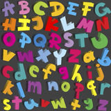 Small and capital letters Stock Photo
