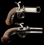 Small capsule pistol. Capsule pistol for hidden carrying. Europa, 18th Century Stock Photo