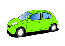 Small Car. Illustration isolated on white Stock Images