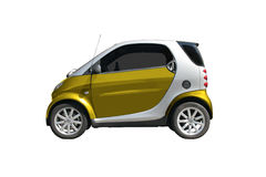 Small car. Small utility car isolated over white Royalty Free Stock Images