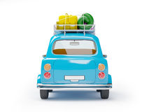 Small car adventure back Royalty Free Stock Photography
