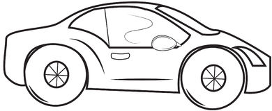 Small car coloring page Royalty Free Stock Photo