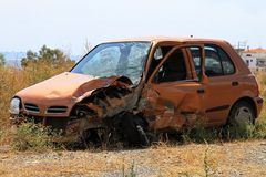 Small car crash Stock Image