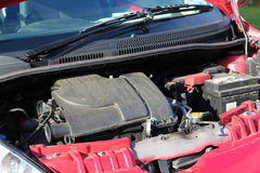 Small car engine. A small two liter car engine Royalty Free Stock Photos