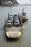 Small car ferry and a tugboat on River Dart UK Royalty Free Stock Photos