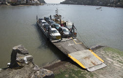 Small car ferry and a tugboat on River Dart UK Royalty Free Stock Images