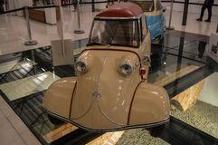 Sorocaba, Brazil thirty august two thousand and fourteen. Small. Small car old in exhibition royalty free stock photo