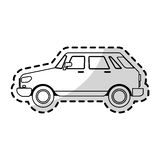Small car sideview icon image Royalty Free Stock Image