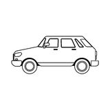 Small car sideview icon image Royalty Free Stock Photography