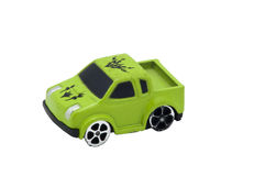 Small Car Toy. On isolated background Stock Photo