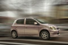 Small car Toyota Vitz. royalty free stock images