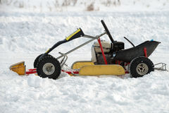 Small car for the winter kart Royalty Free Stock Photo