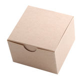 Small Cardboard Box, Isolated Royalty Free Stock Image