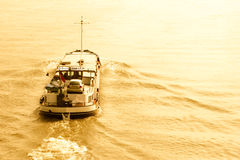 Small Cargo Boat on Water Royalty Free Stock Image