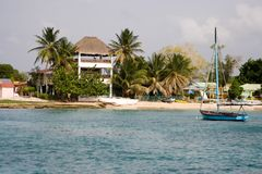 Small caribbean fishing harbou. R (Bayahibe, Dominican Republic royalty free stock photography