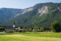 Small carinthian village. A small village in the valley of the river Gail in Carinthia/Austria Royalty Free Stock Image