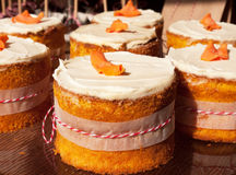 Small carrot cakes Royalty Free Stock Photography
