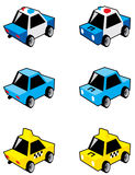 Small Cars. A collection of urban vehicles Royalty Free Stock Photography