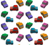 Small cars. Background illustration, infinite pattern Royalty Free Stock Image