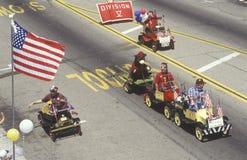Small Cars in July 4th Parade, Ojai, California Royalty Free Stock Photo