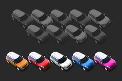 Small cars, MINI Stock Photography