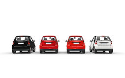 Small Cars Row Stock Photo