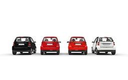 Small Cars Row Stock Photo