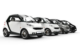 Small cars in a row Stock Photography