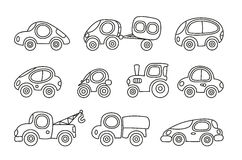 Small cars set Royalty Free Stock Image