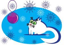 Small cartoon cat Stock Photos
