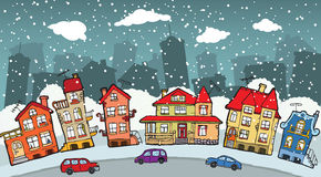 Small cartoon city Stock Image